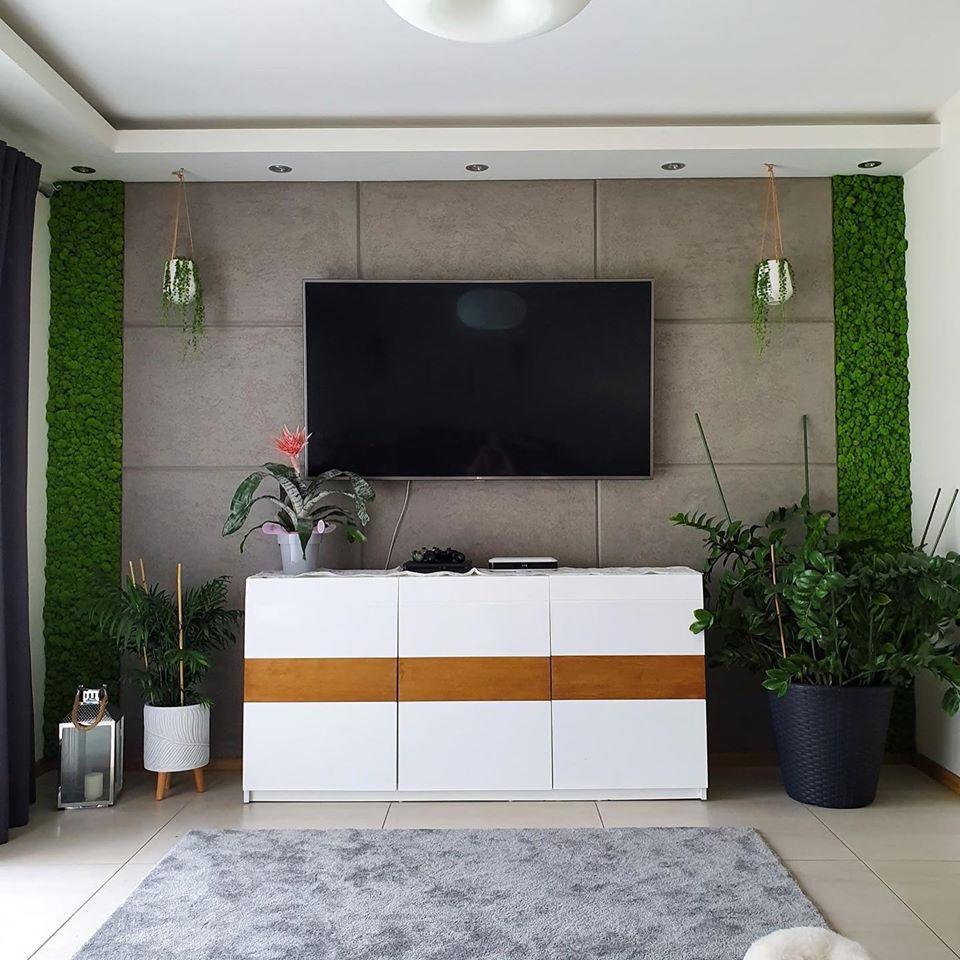 Modny salon – trawertyn kontra beton!
